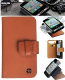 Trexta ROTC iPhone 4 / 4S Genuine Leather Tan Rotating Flip Case